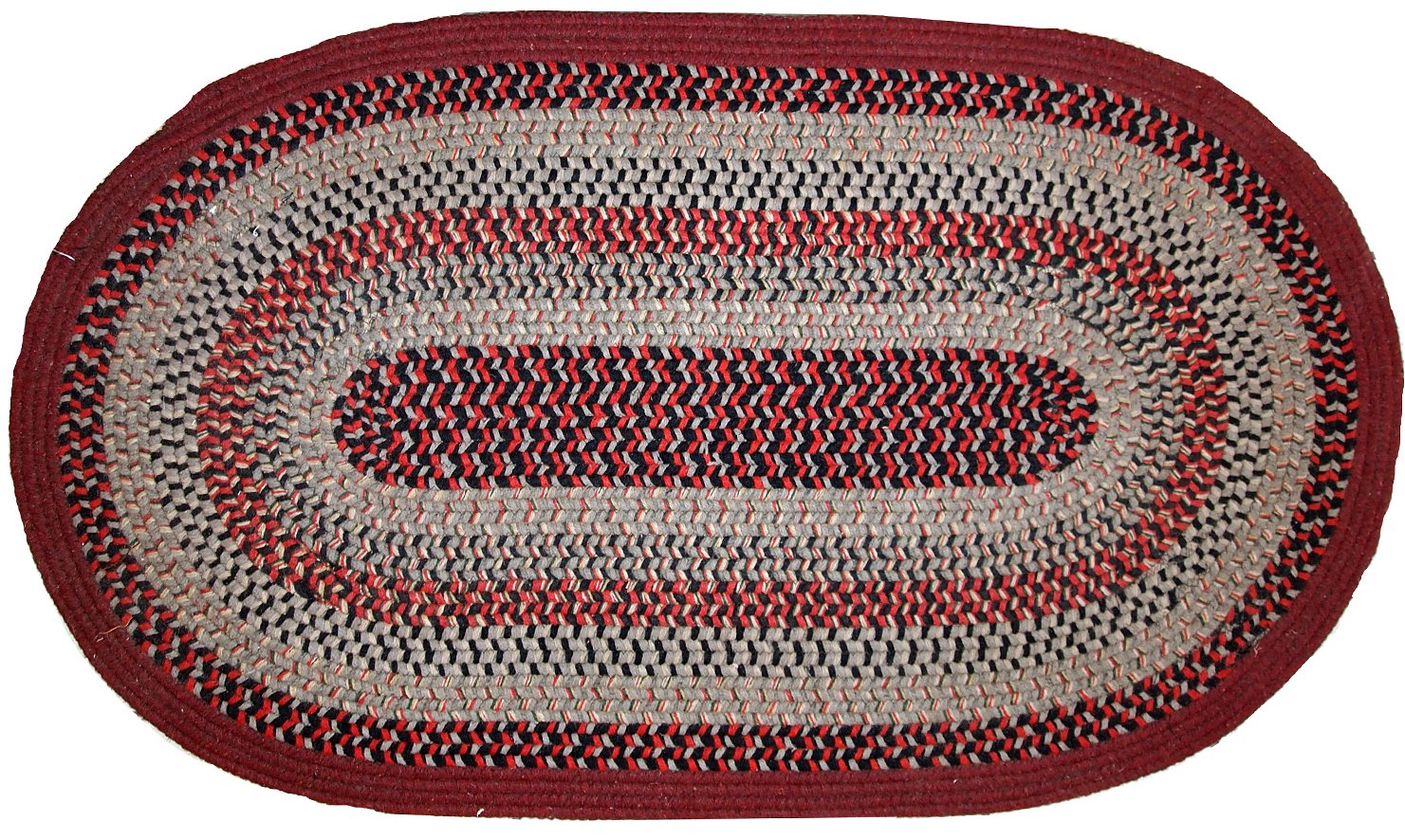 Vintage American Oval Braided Rug 1930s For Sale At Pamono