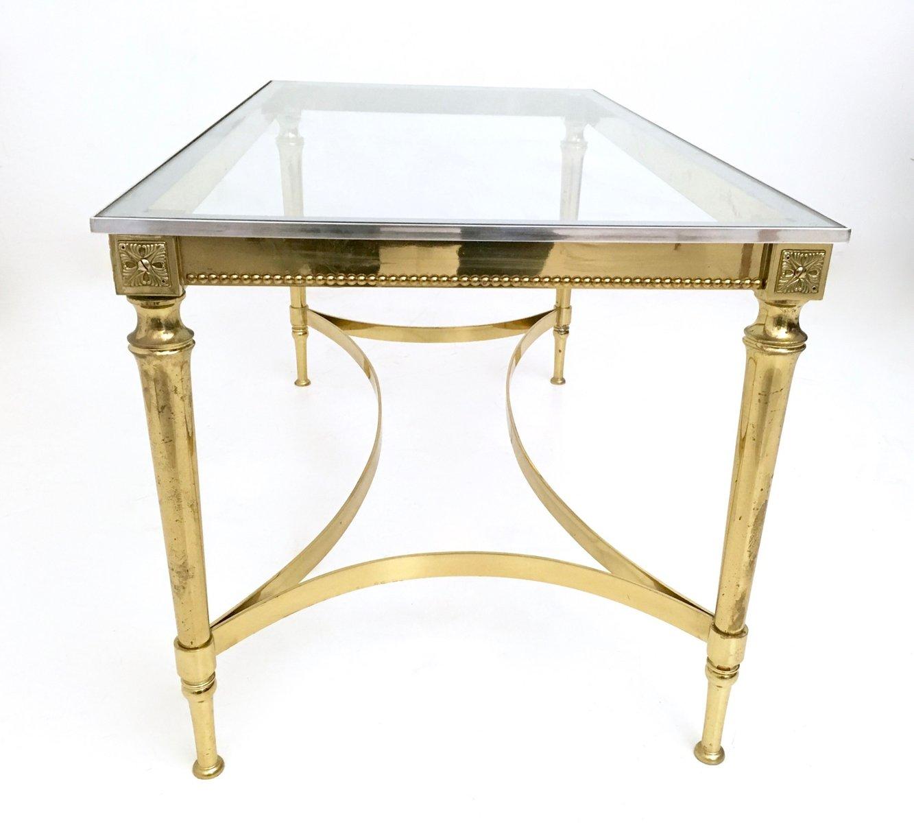 table basse mid century en verre et m tal en vente sur pamono. Black Bedroom Furniture Sets. Home Design Ideas