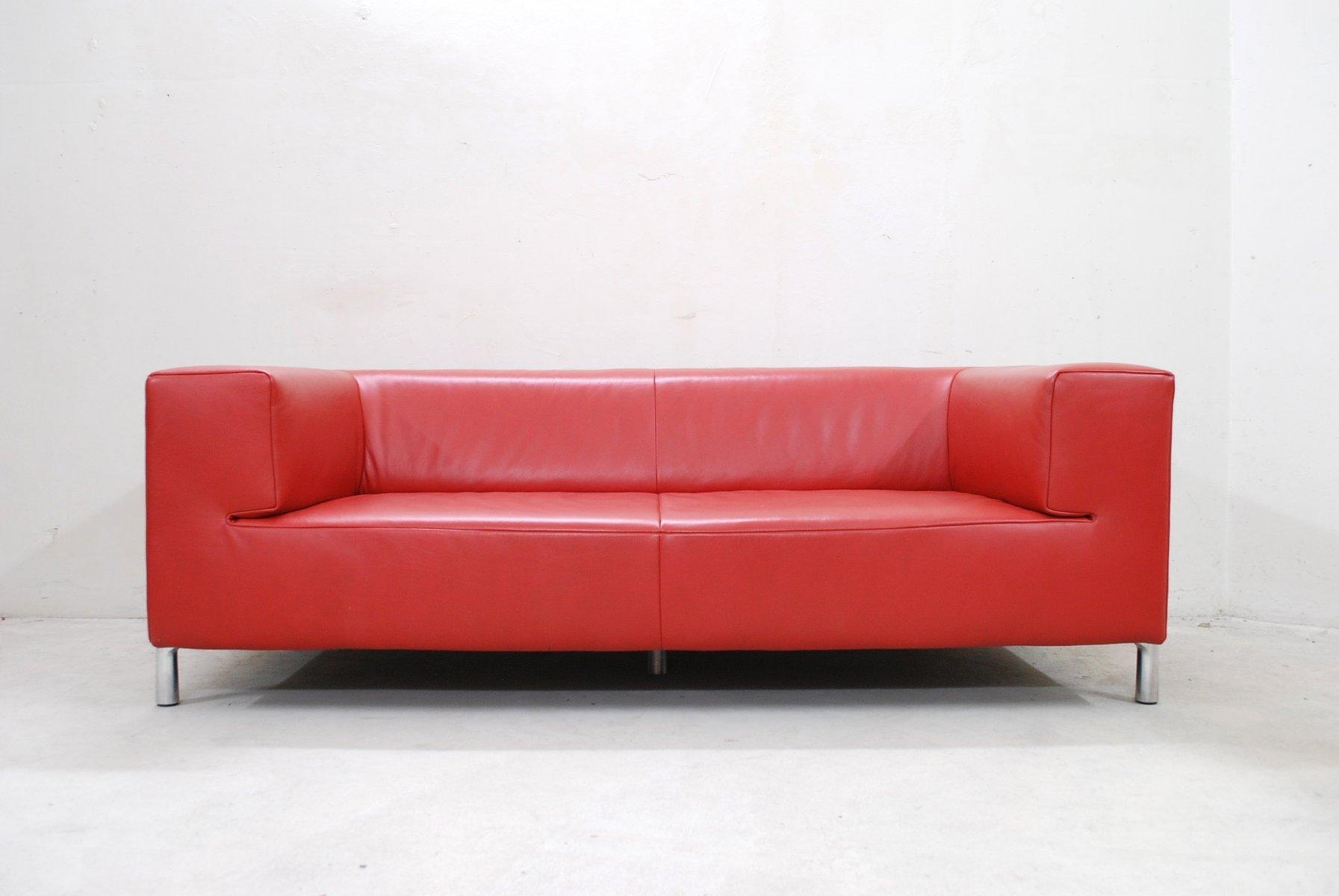 Divano Genesis vintage in pelle rossa di Koinor