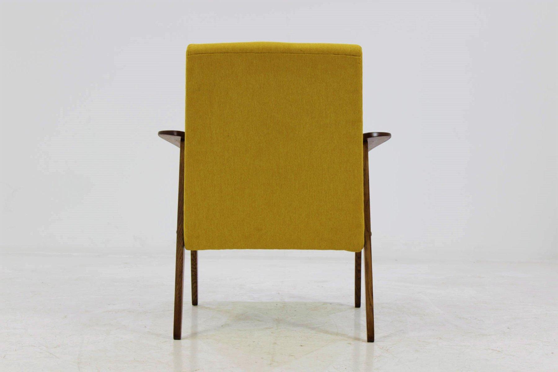 mid century sessel in gelb 1960er bei pamono kaufen. Black Bedroom Furniture Sets. Home Design Ideas