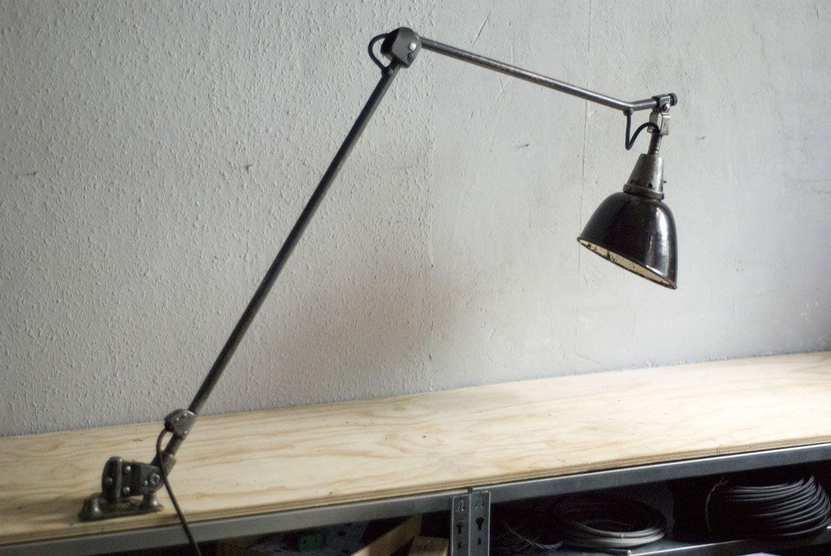 Vintage Tischlampe mit 2 Gelenken von Curt Fischer für Midgard