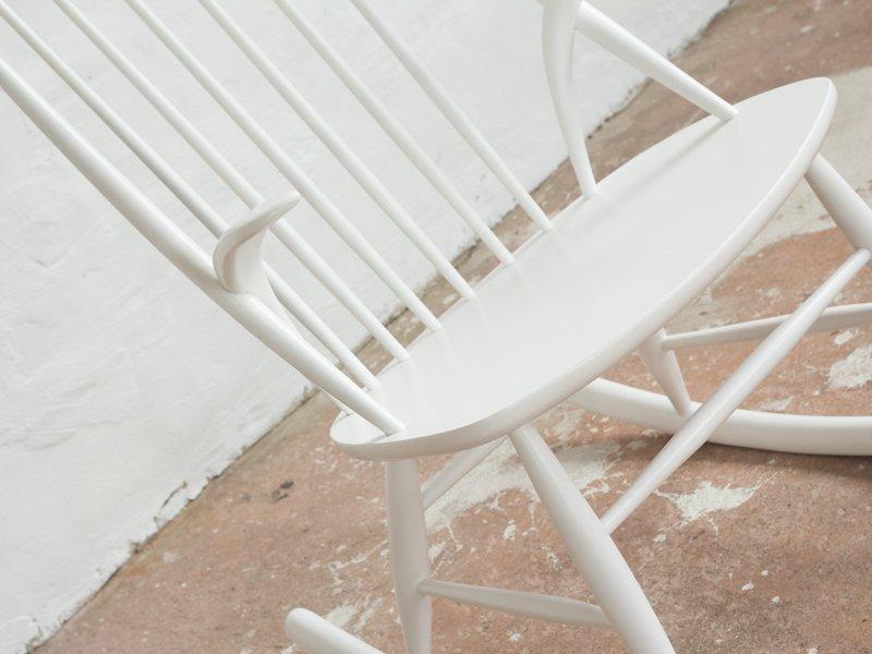 wei er vintage schaukelstuhl von illum wikkels f r niels eilersen bei pamono kaufen. Black Bedroom Furniture Sets. Home Design Ideas