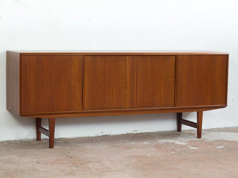 Dänisches Vintage Sideboard aus Teakholz von E.W. Bach für Sejling Ska...