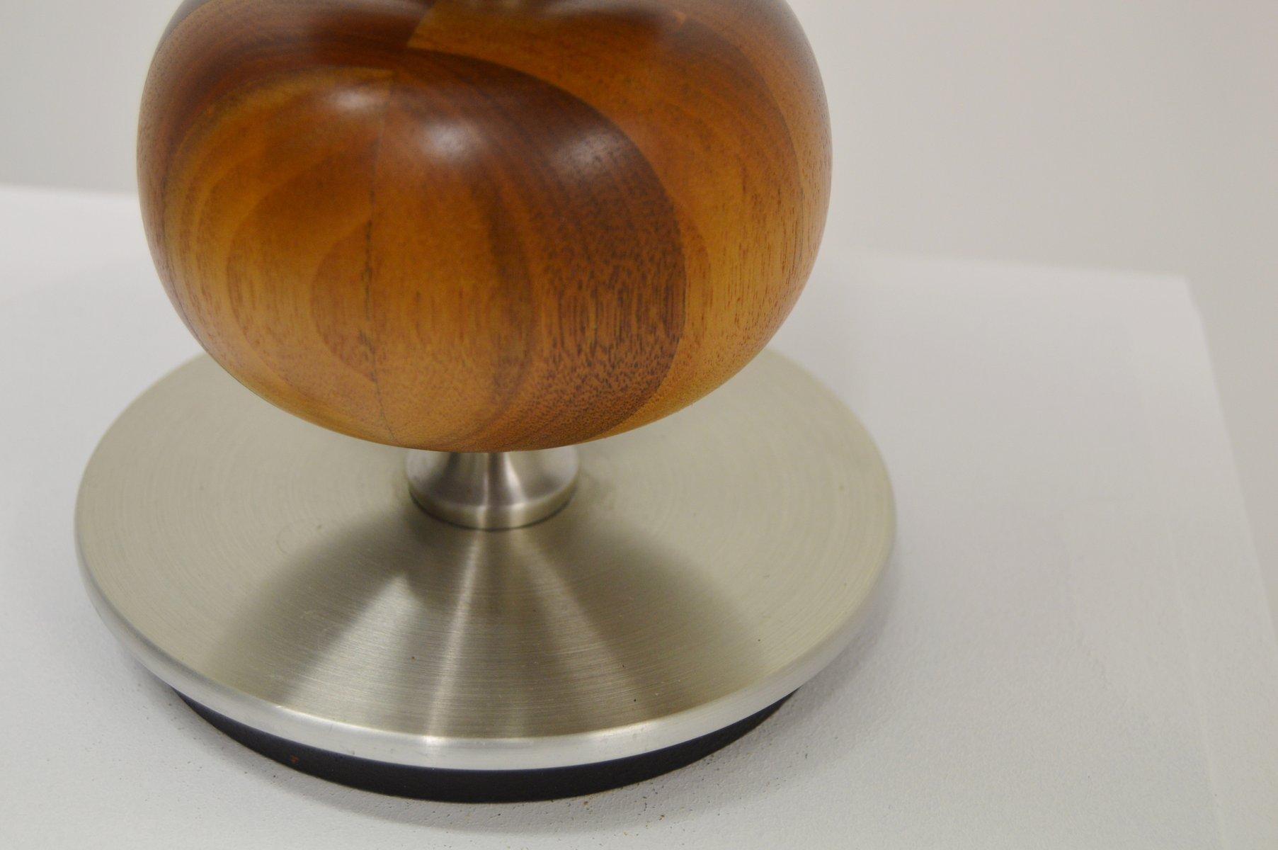 mid century tischlampe aus holz von henrik blomqvist f r tran s stilarmatur bei pamono kaufen. Black Bedroom Furniture Sets. Home Design Ideas