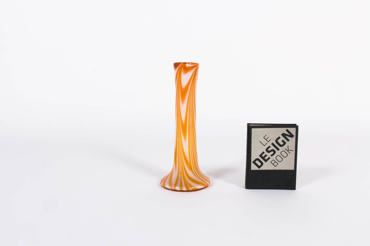 grand vase pour fleur individuelle en verre 1970s en. Black Bedroom Furniture Sets. Home Design Ideas