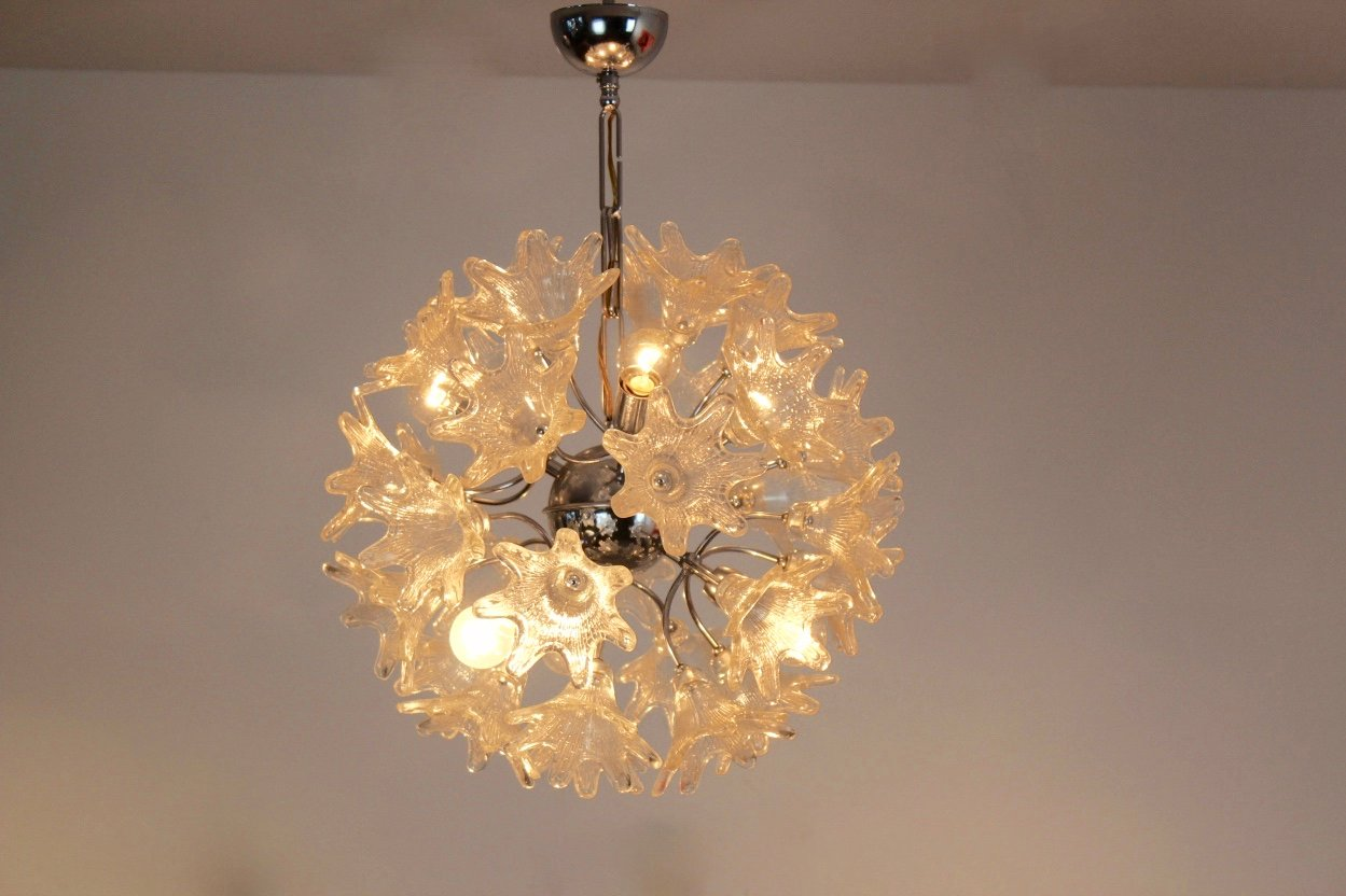 Vintage murano glass chandelier by paolo venini for veart for sale vintage murano glass chandelier by paolo venini for veart aloadofball Images
