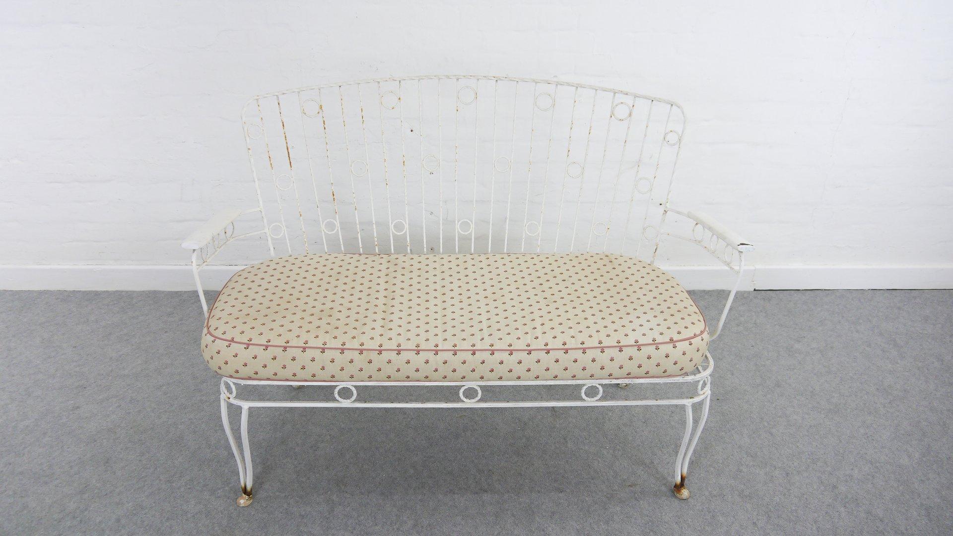 vintage gartenbank aus metall 1950er bei pamono kaufen. Black Bedroom Furniture Sets. Home Design Ideas
