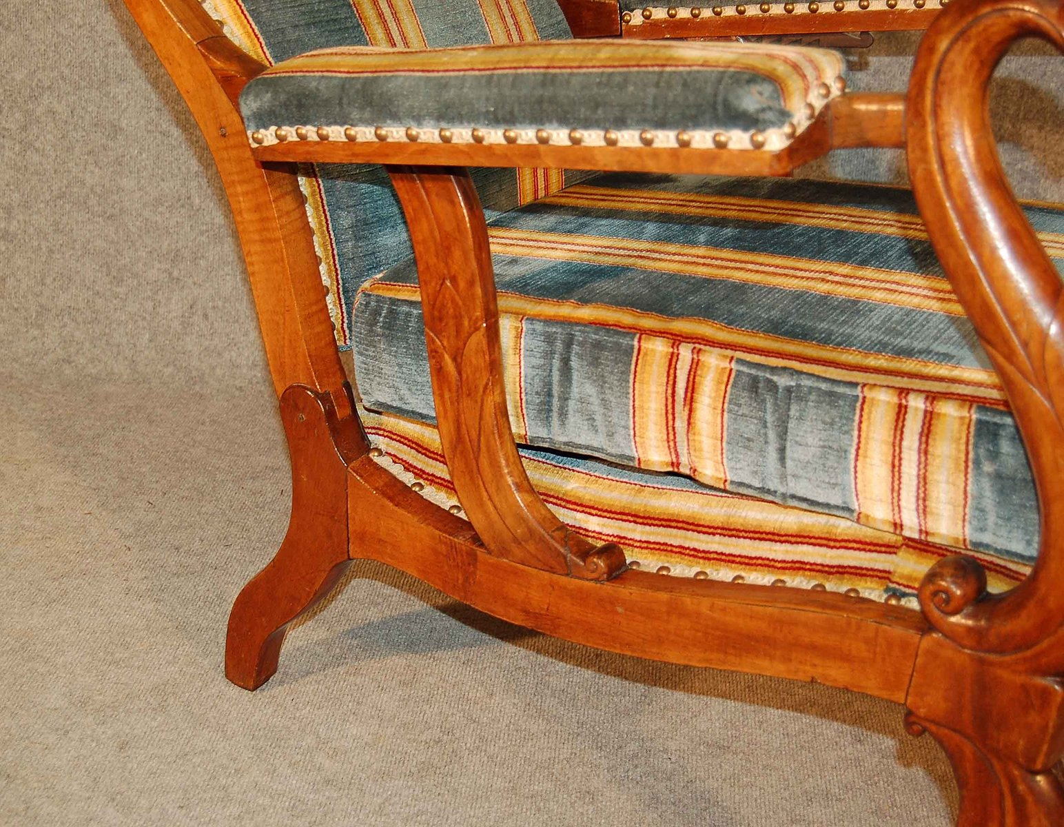 Antique French Reclining Chair - Antique French Reclining Chair For Sale At Pamono