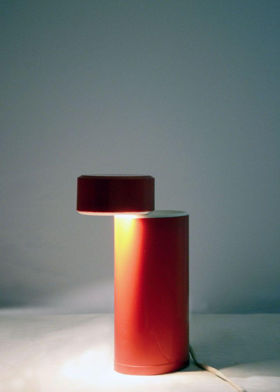 lampe de bureau halog ne ellisse vintage en plastique par mario bertorelle pour jm rdm en vente. Black Bedroom Furniture Sets. Home Design Ideas