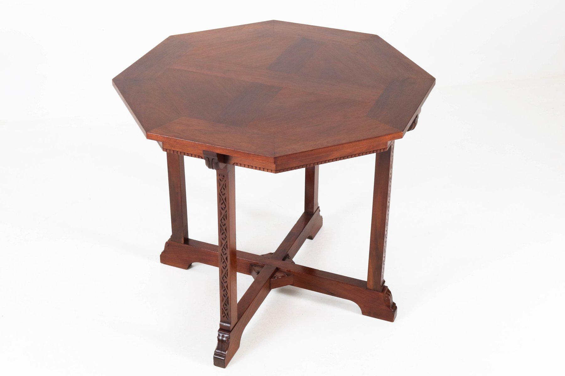 Niederländischer Mahagoni Arts & Crafts Tisch von Willem Haver für J.A...