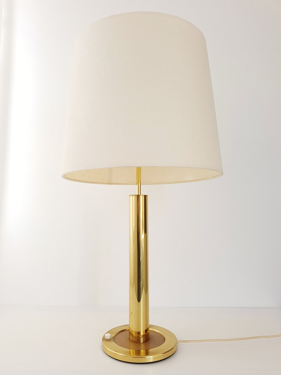 Verstellbare Tischlampe aus Vergoldetem Messing, 1970er