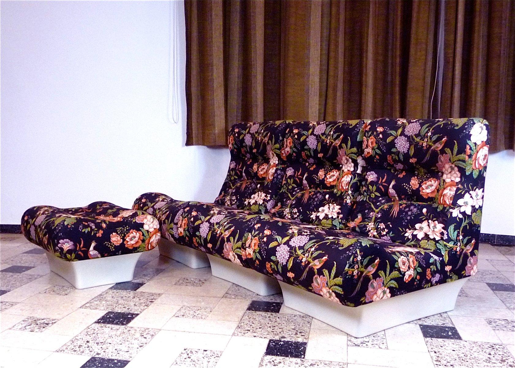 sessel ottomane von otto zapf 1967 4er set bei pamono kaufen. Black Bedroom Furniture Sets. Home Design Ideas