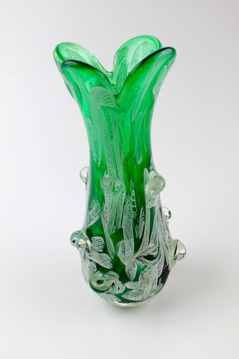 vase en verre de murano 1960s en vente sur pamono. Black Bedroom Furniture Sets. Home Design Ideas