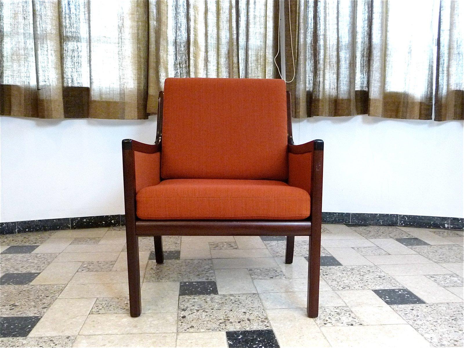 Sessel aus Mahagoni von Ole Wanscher für Poul Jeppesen Møbelfabrik, 19...
