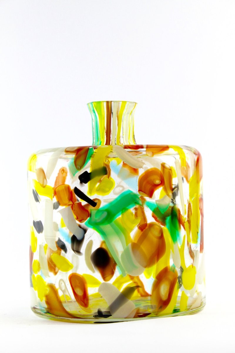 Murano Glass Bottle, 1970s for sale at Pamono