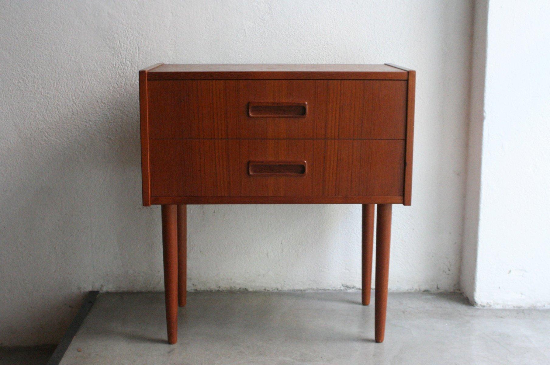 kleiner vintage teak nachttisch von knud erik bei pamono kaufen. Black Bedroom Furniture Sets. Home Design Ideas