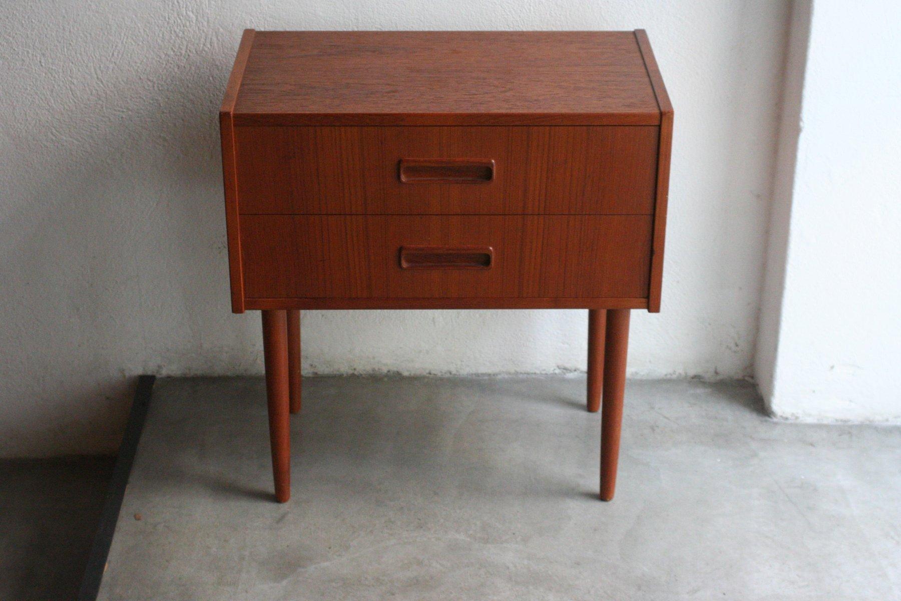 Kleiner Vintage Teak Nachttisch von Knud Erik