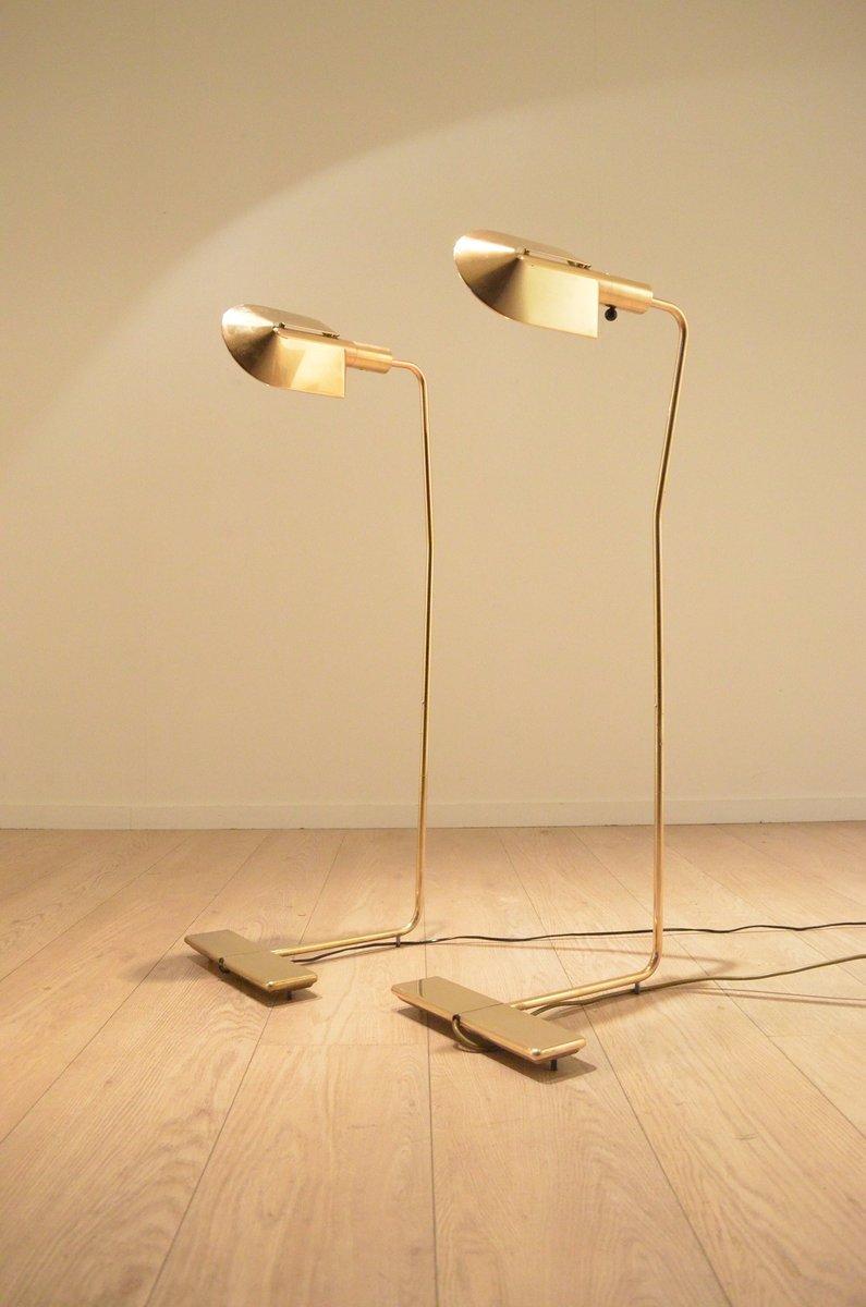 Messing Stehlampe von Cedric Hartman, 1970er