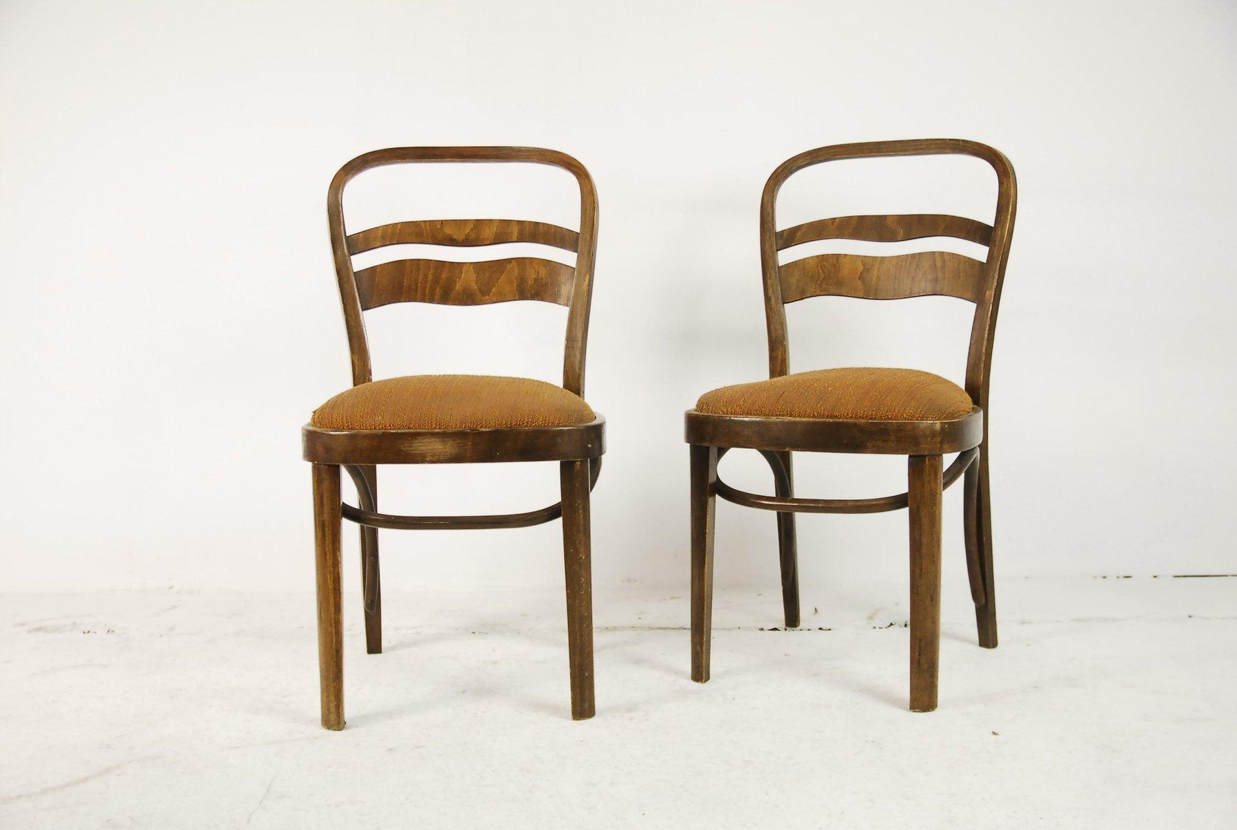 vintage walnuss furnier st hle im art deco stil 2er set. Black Bedroom Furniture Sets. Home Design Ideas