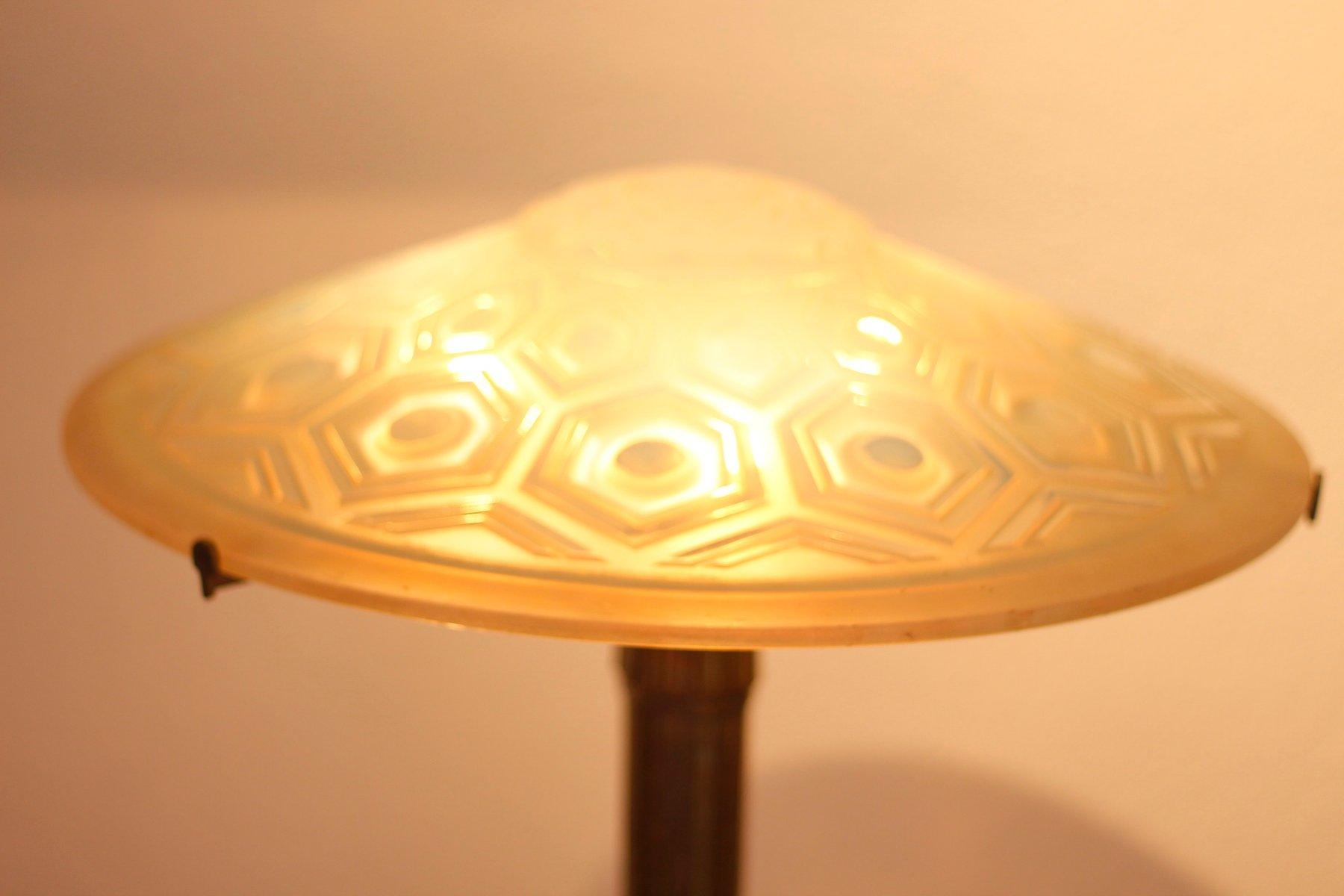 lampe de bureau art d co vintage par yves granger en vente sur pamono. Black Bedroom Furniture Sets. Home Design Ideas