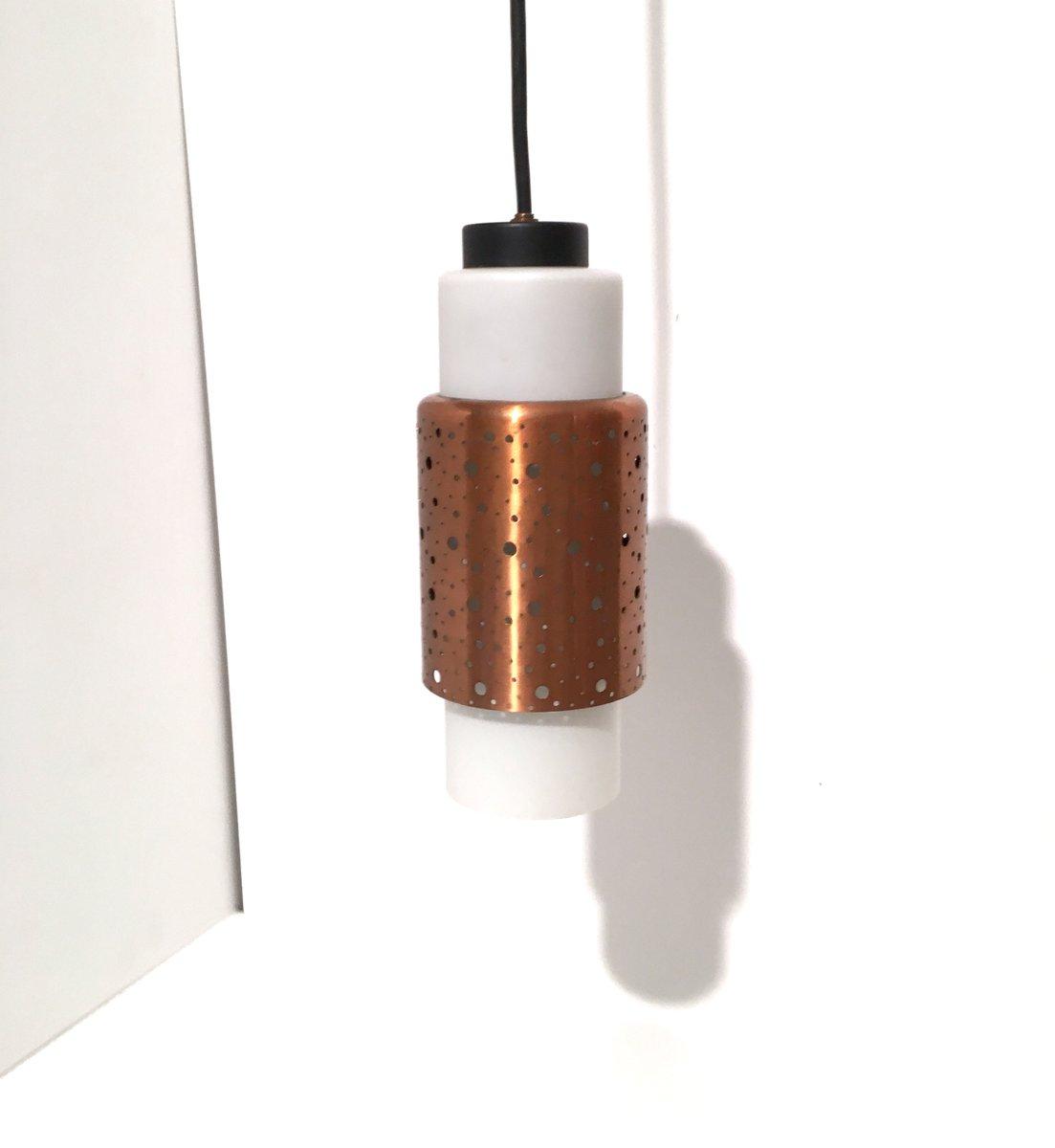 Mid-Century Kupfer Deckenlampe, 1960er