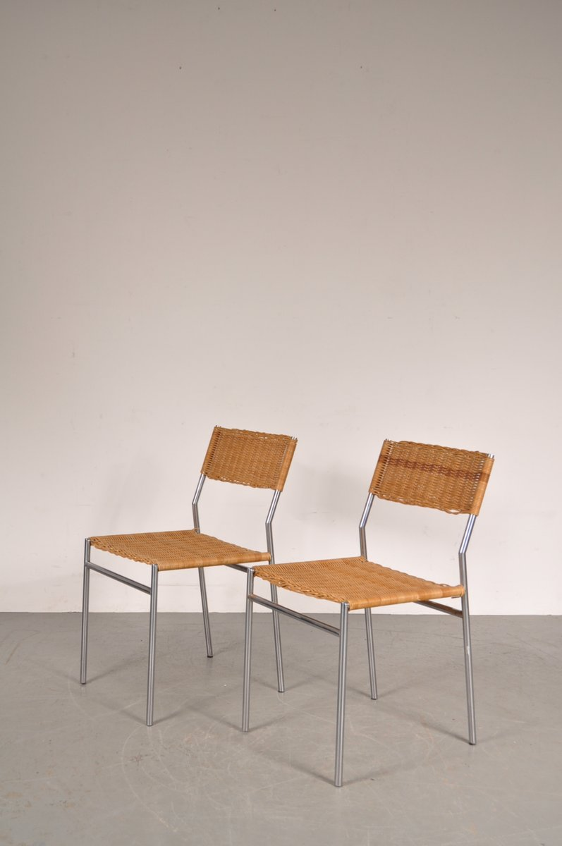 Minimalist Dining Chairs By Martin Visser For U0027t Spectrum, 1960s, Set Of 2
