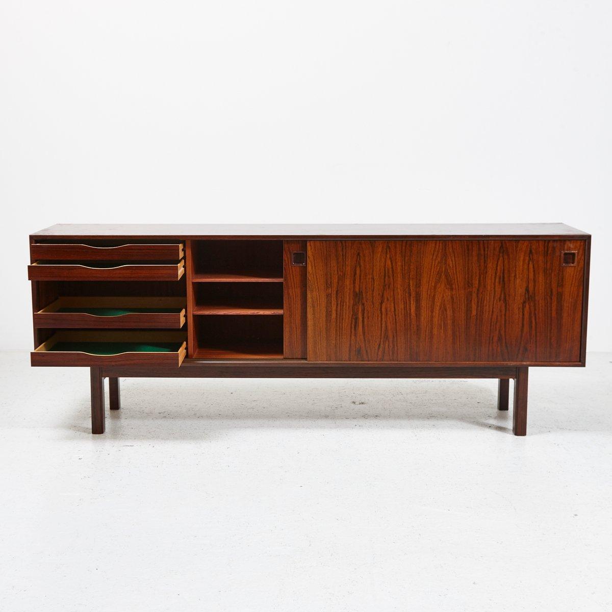 Modell 21 palisander sideboard von omann jun 1960er bei for Sideboard 4 meter lang