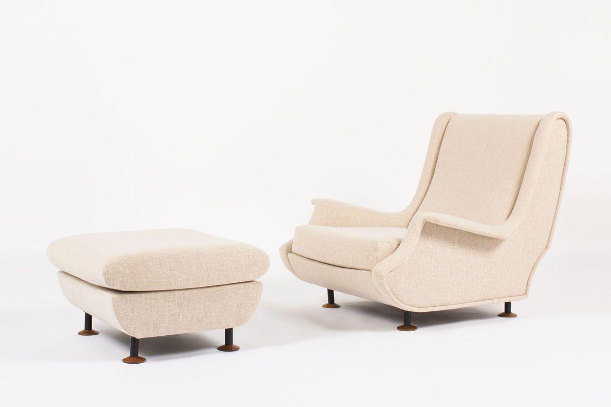 modell regent sessel hocker von marco zanuso f r arflex. Black Bedroom Furniture Sets. Home Design Ideas