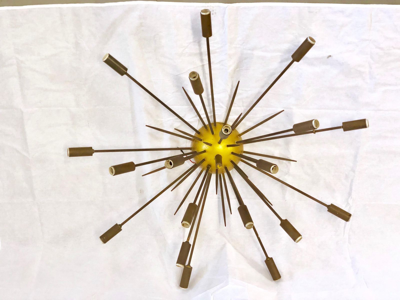 Brass chandelier from stilnovo 1950s for sale at pamono brass chandelier from stilnovo 1950s aloadofball Gallery