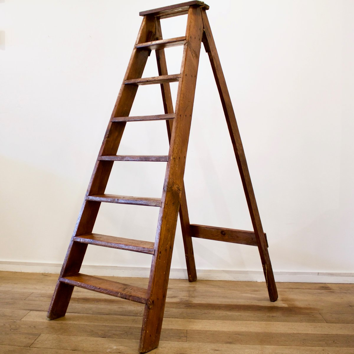French Wooden Ladder, 1930s For Sale At Pamono