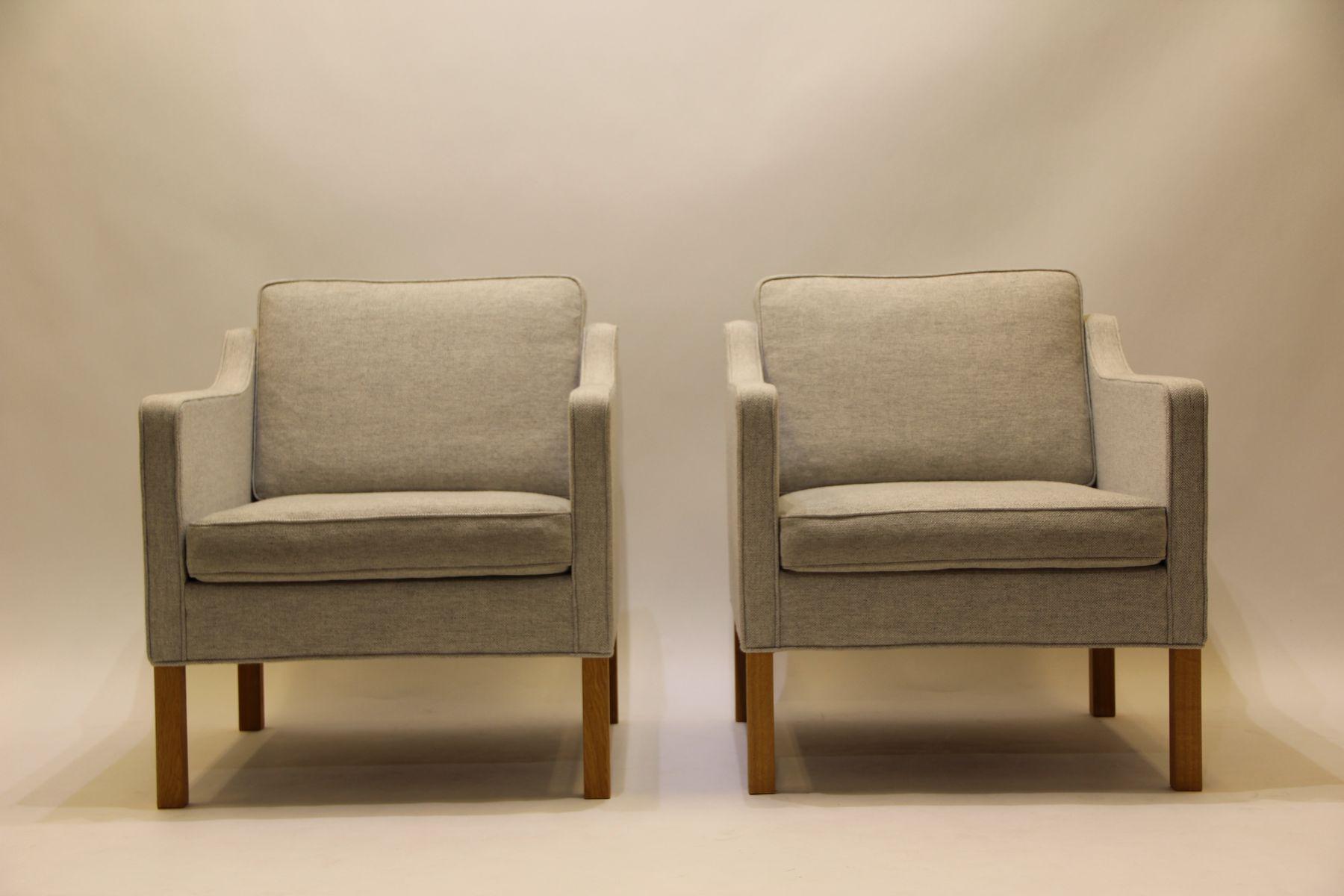 Vintage Modell 2321 Sessel von Børge Mogensen für Fredericia, 2er Set