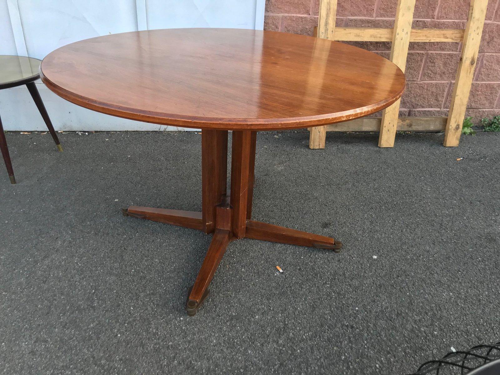 Vintage Holz Esstisch von Guglielmo Ulrich