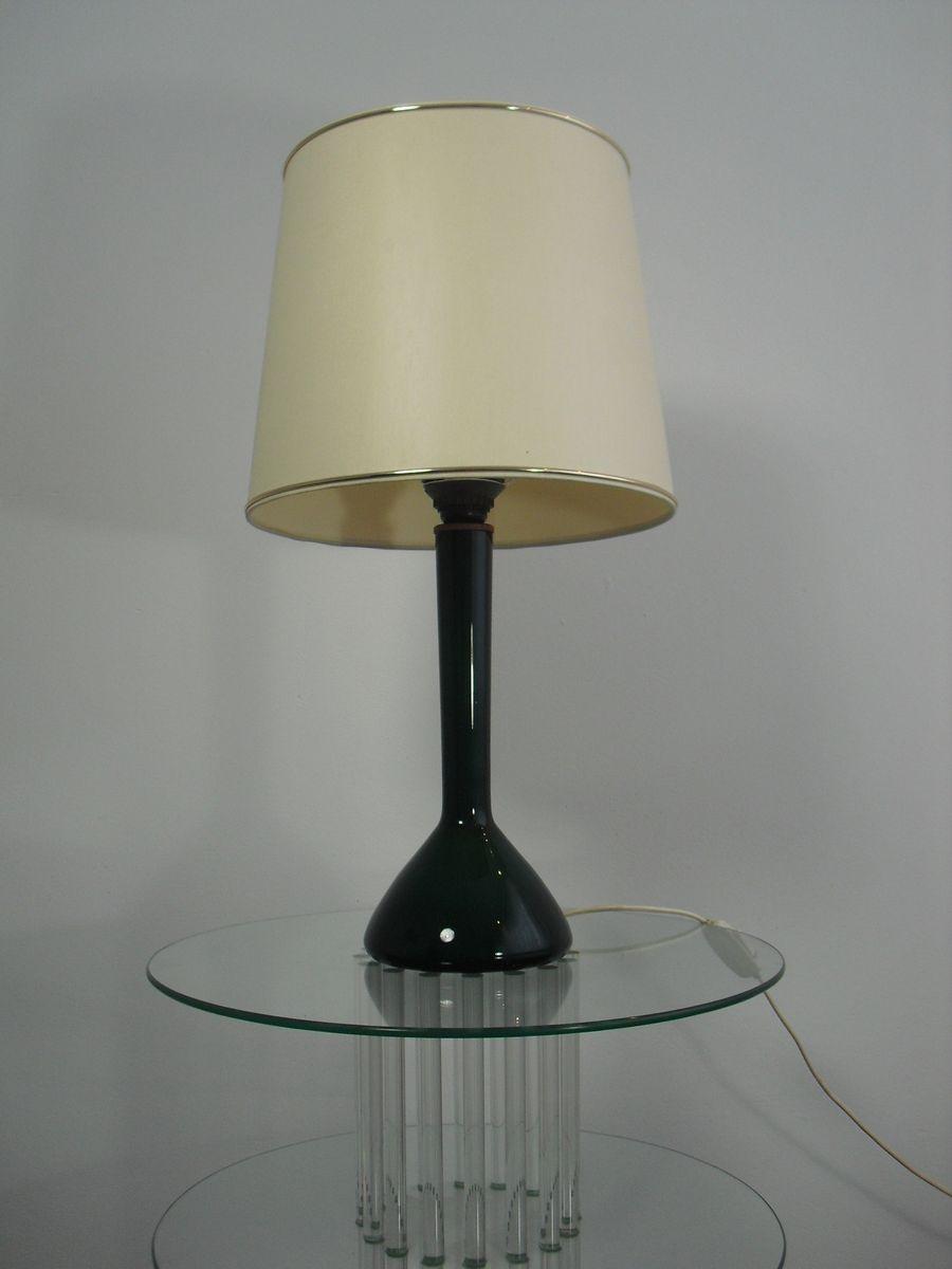 Dänische Mid-Century Tischlampe aus Glas von Kastrup Holmegaard, 1960e...