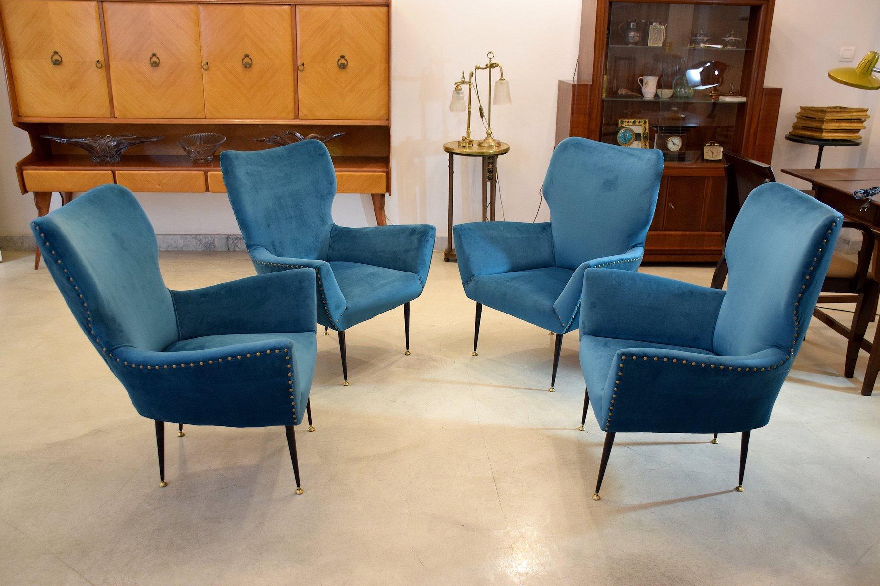 Geschwungene italienische sessel 1950er 2er set bei for Italienische sessel