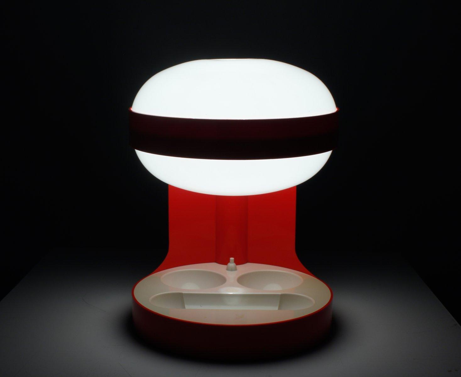 lampe de bureau kd 29 rouge par joe colombo pour kartell 1967 en vente sur pamono. Black Bedroom Furniture Sets. Home Design Ideas