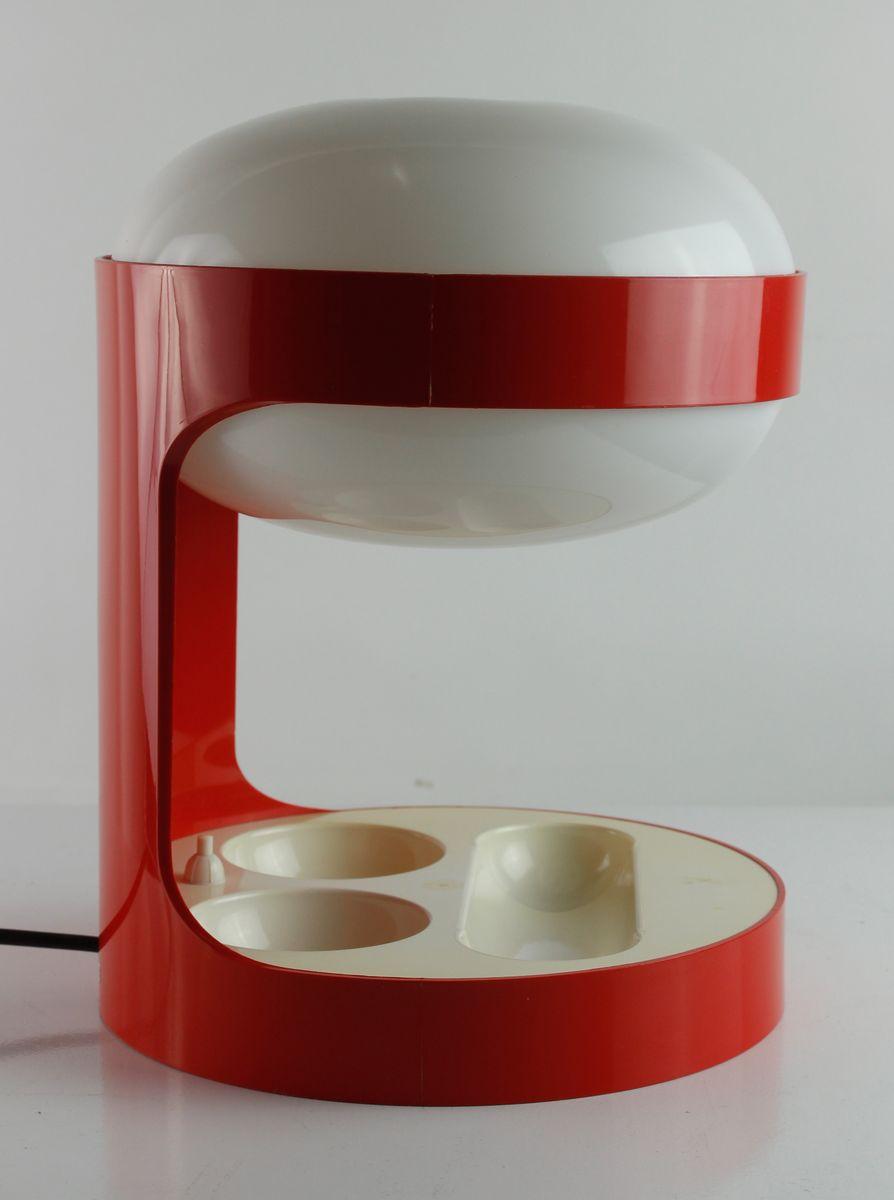 Rote KD 29 Tischlampe von Joe Colombo für Kartell, 1967
