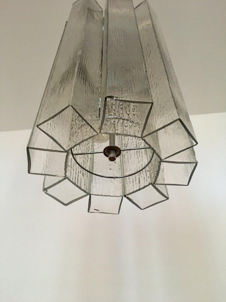 gro e glas h ngelampe von doria 1960er bei pamono kaufen. Black Bedroom Furniture Sets. Home Design Ideas