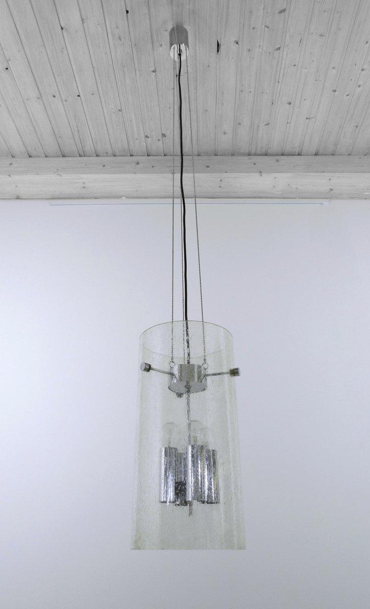 Deutsche Glas Deckenlampe von Glashütte Limburg, 1970er