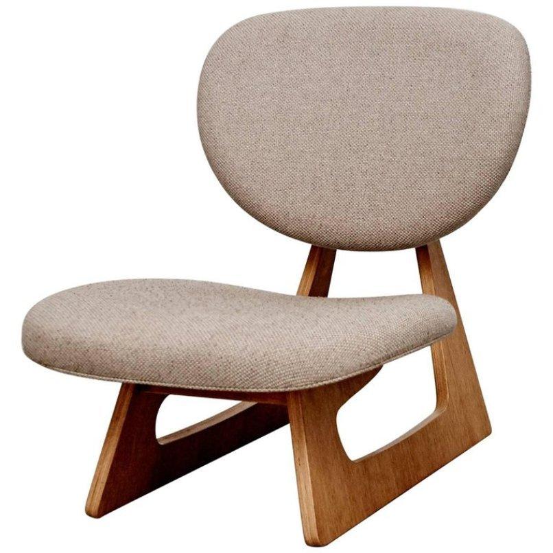 Japanischer Stuhl von Junzo Sakakura für Tendo, 1950er