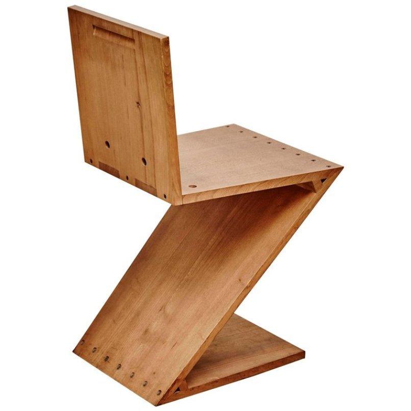 vintage zig zag stuhl von gerrit rietveld f r metz co bei pamono kaufen. Black Bedroom Furniture Sets. Home Design Ideas