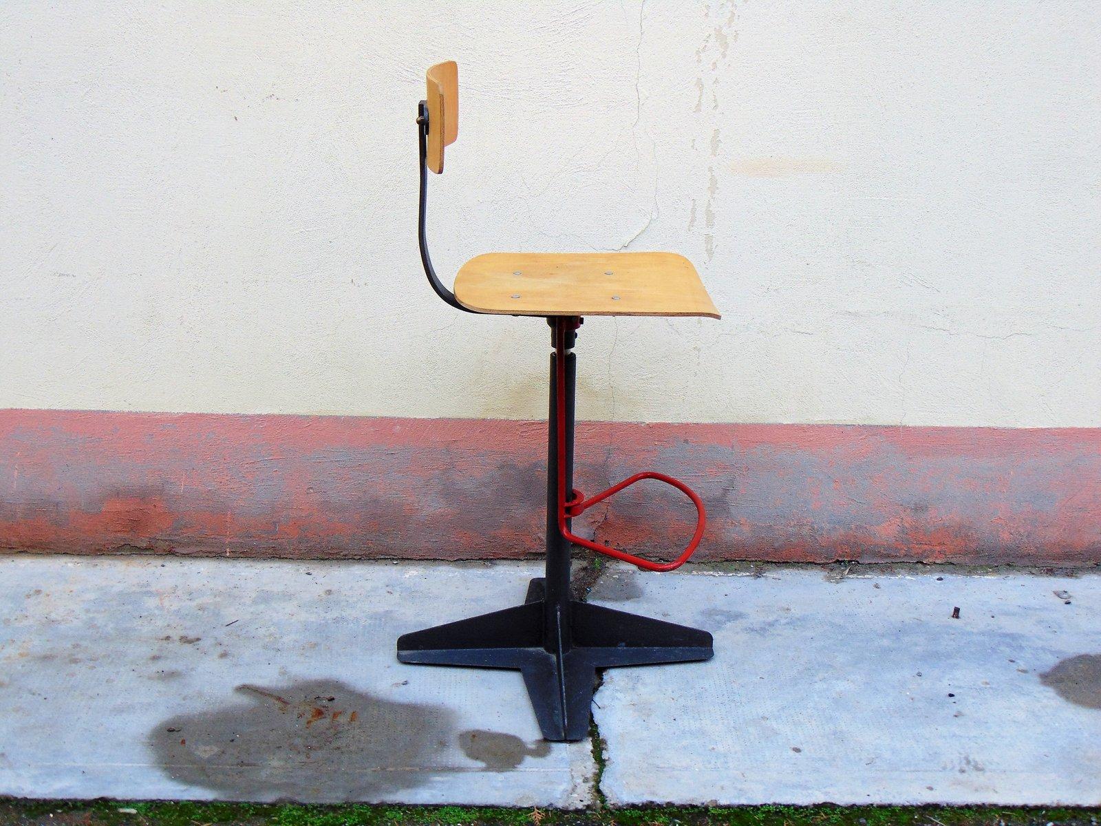 Sgabello da architetto vintage in vendita su pamono