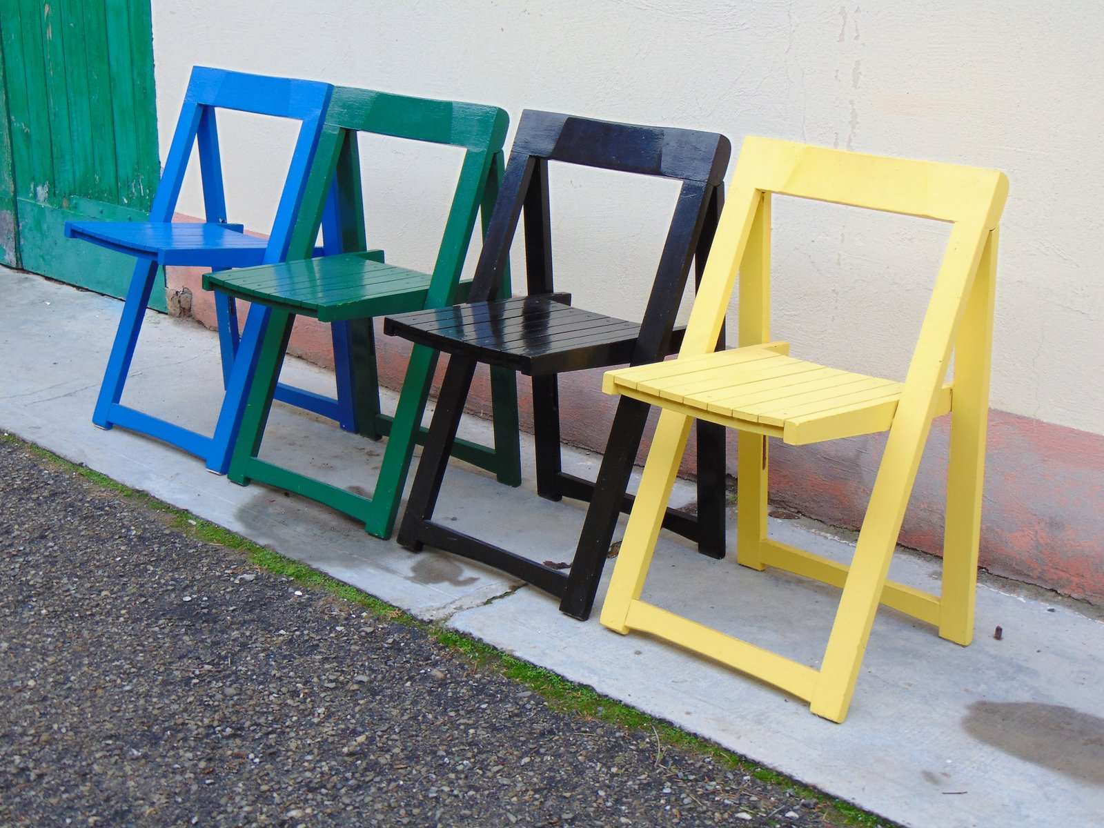 Gentil Vintage Folding Chairs By Aldo Jacober For Alberto Bazzani, Set Of 4