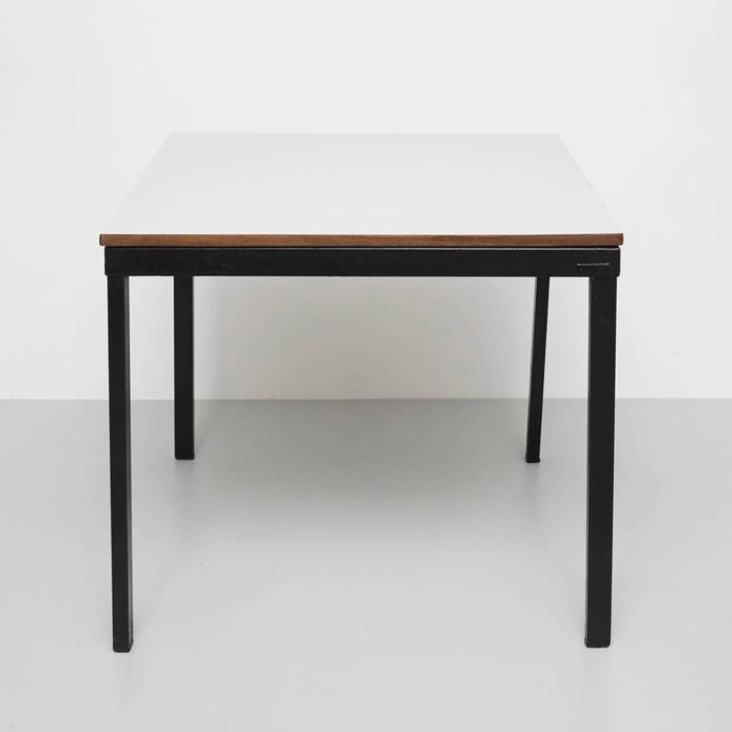 table de bridge mid century par charlotte perriand pour steph simon en vente sur pamono. Black Bedroom Furniture Sets. Home Design Ideas