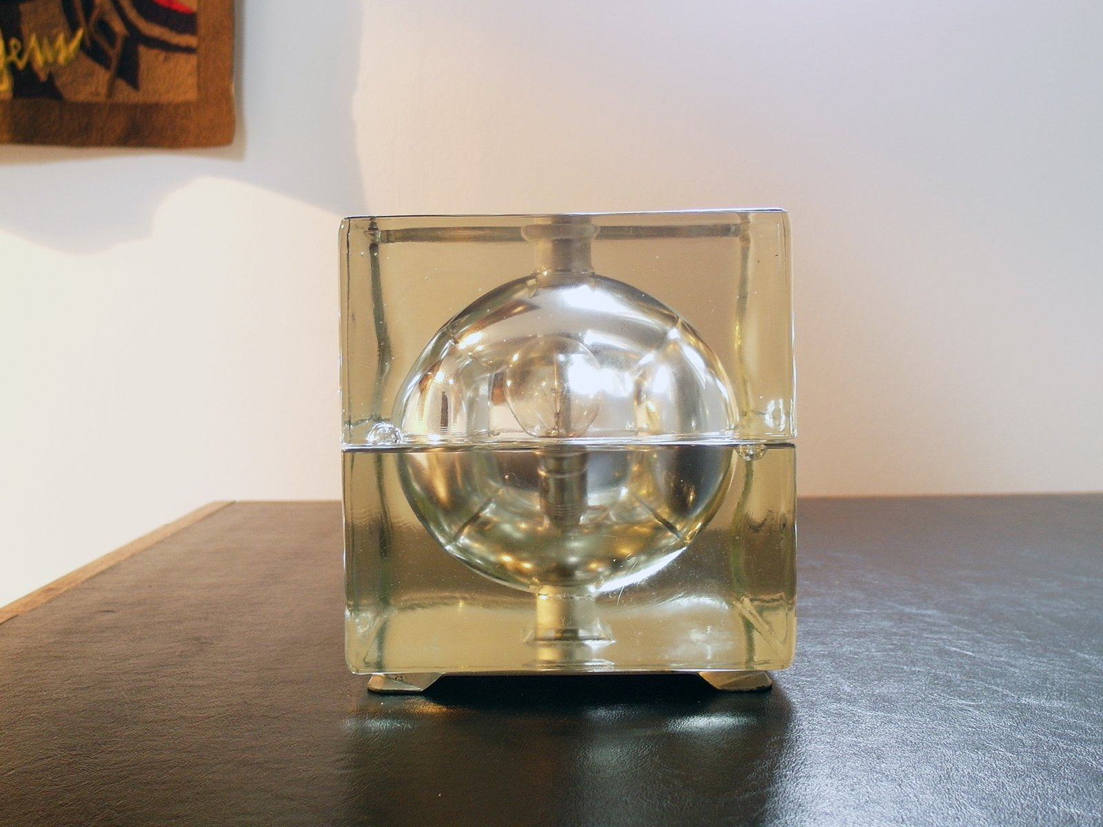 Cubosfera Tischlampe von Alessandro Mendini für Fidenza Vetraria, 1968