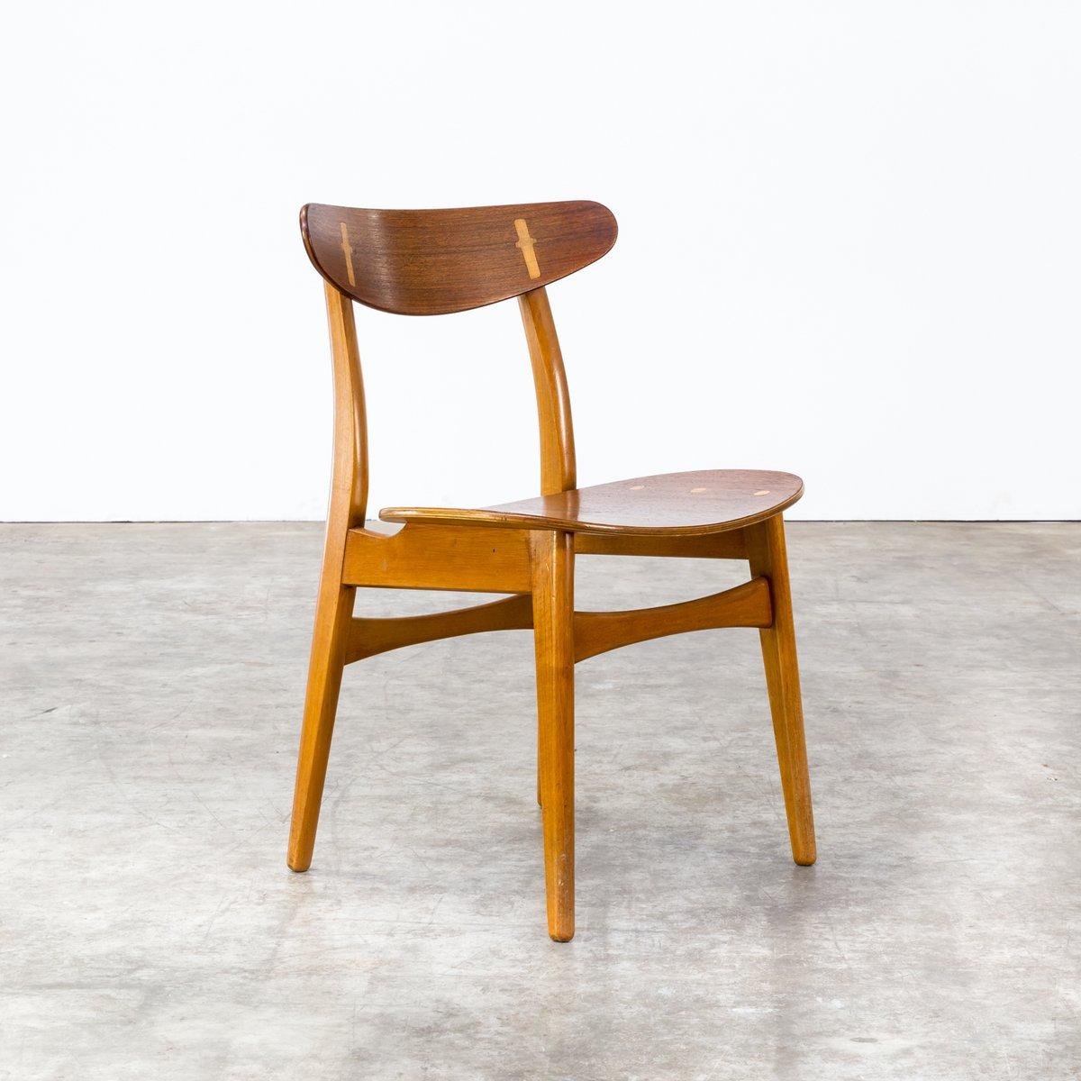 ch 30 esszimmer st hle von hans wegner f r carl hansen son 1950er 6er set bei pamono kaufen. Black Bedroom Furniture Sets. Home Design Ideas