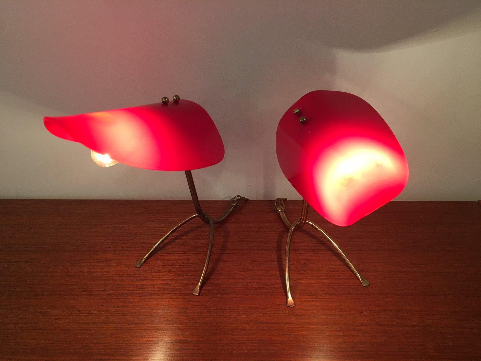 Österreichische Vintage Tisch- oder Wandlampen von Kalmar, 2er Set