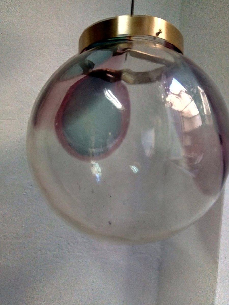 grande lampe globe mid century en verre murano 1970s en vente sur pamono. Black Bedroom Furniture Sets. Home Design Ideas