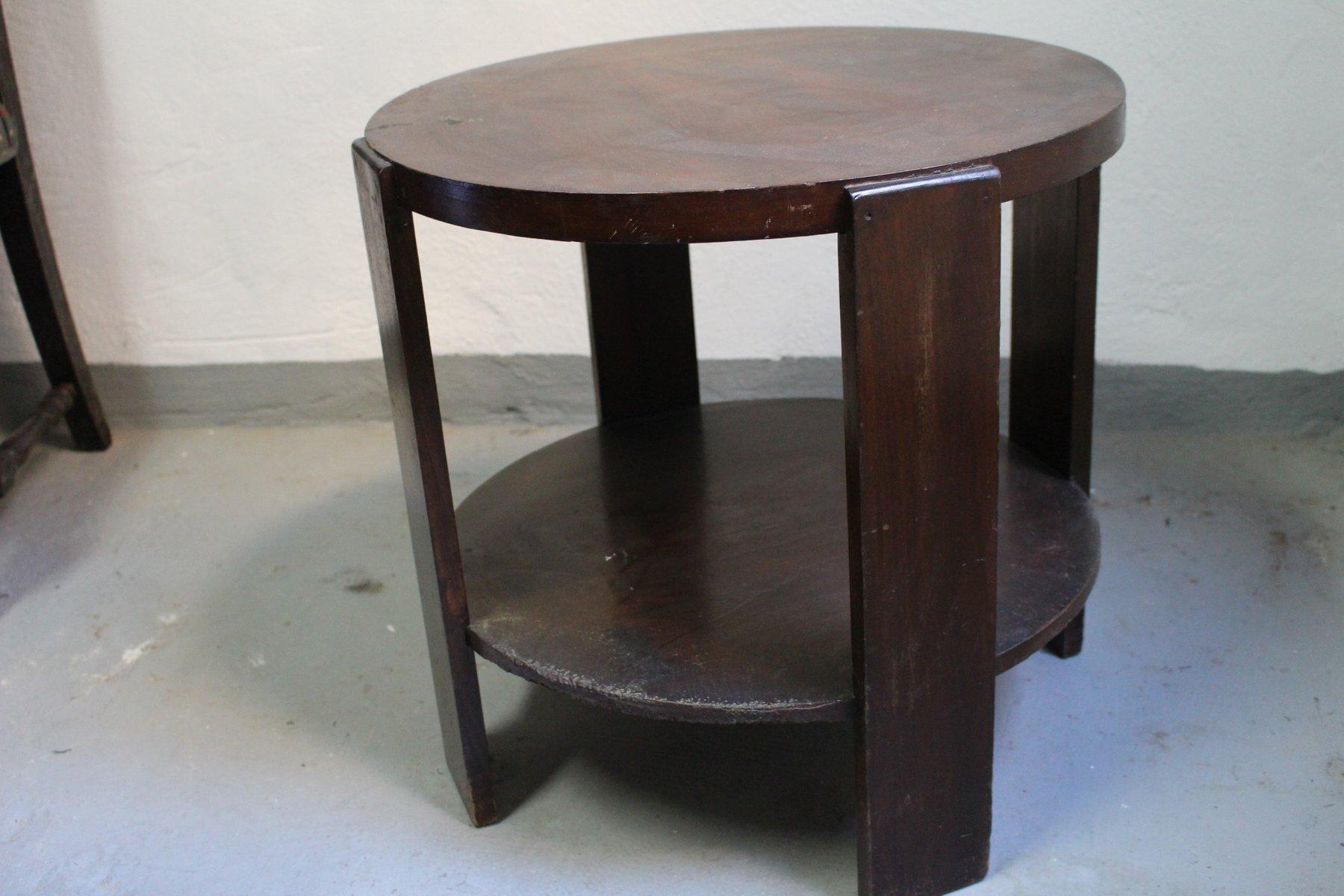 runder spanischer art deco beistelltisch 1920er bei. Black Bedroom Furniture Sets. Home Design Ideas
