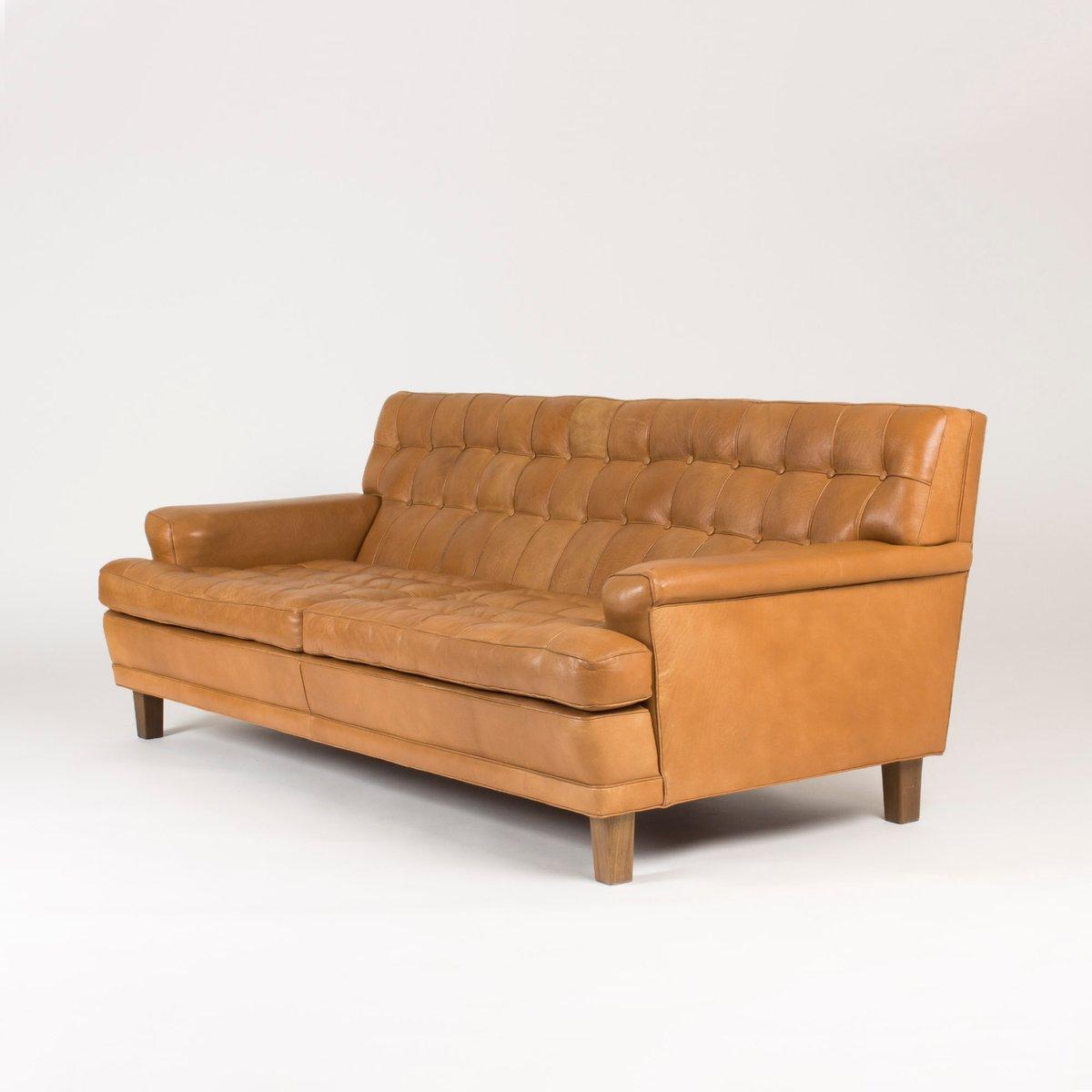 leder sofa von arne norell 1960er bei pamono kaufen. Black Bedroom Furniture Sets. Home Design Ideas