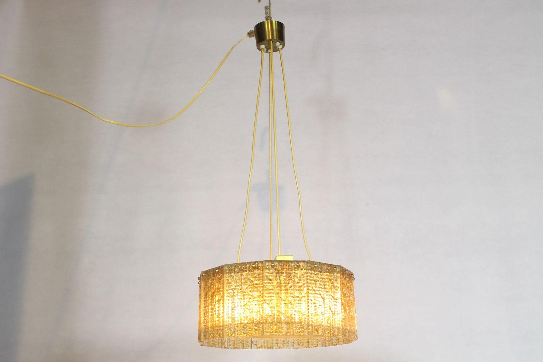 Glas Deckenlampe von Carl Fagerlund für Orrefors, 1970er